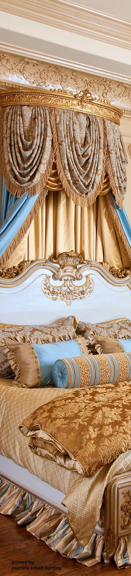 Opulent traditional bedroom.  DesignNashville.com offers luxury opulent bedding shipping to all locations.