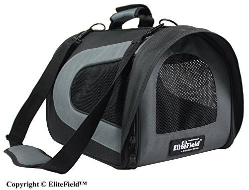 EliteField Soft Pet Carrier for Cats and Dogs, 20 L x 11 W x 11 H Inch Black/Gray