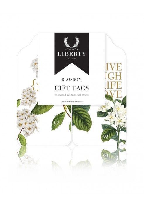 Our Blossom Collection, with beautiful green and white botanical designs. Visit us at www.libertybespoke.co.za