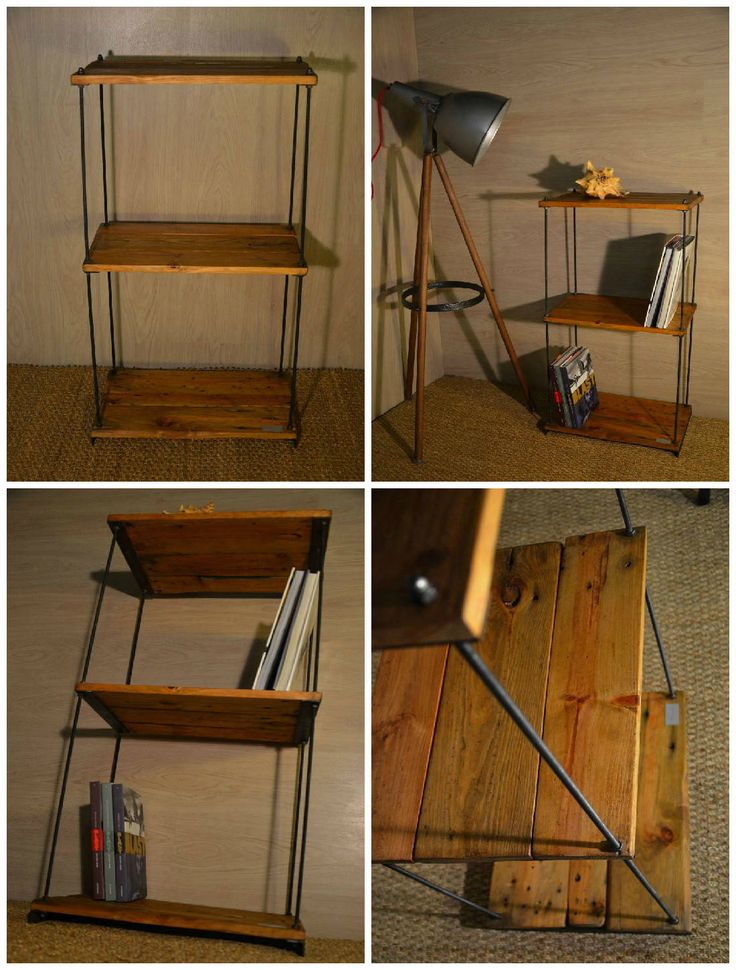Etag Re R Glable En Bois De Palette Pallet Wood Shelves Pallet Ideas Shelves Vintage And