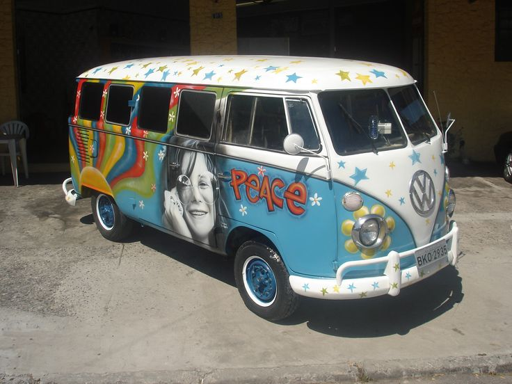 "The volkswagon ""hippie"" van"