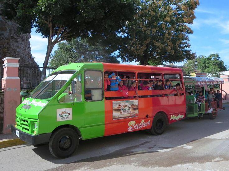 """The Safari Mágico makes its way through El Rosario, Sinaloa, Mexico, the """"Pueblo Mágico""""."""