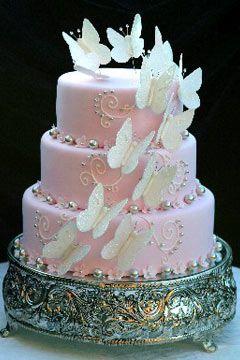 diseños de la torta de la boda de la mariposa - https://www.facebook.com/diplyofficial