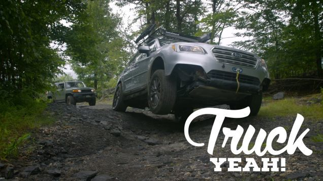 4Runners and Wranglers are great off-road, but they get 15 MPG and handle highways like old mules. Now a 2015 Subaru Outback, there's a comfy adventure rig. Too bad it can't keep up with real trucks off-road. But what if you made a few modifications?