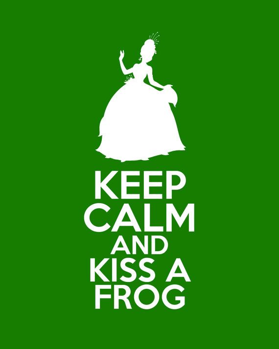 Disney The Princess and the Frog Keep Calm 8x10 Poster Prints on Etsy, $12.00