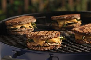 Grilled Chicken Patty Melt Recipe - Butter on the outside instead of mayo please... that's just weird.