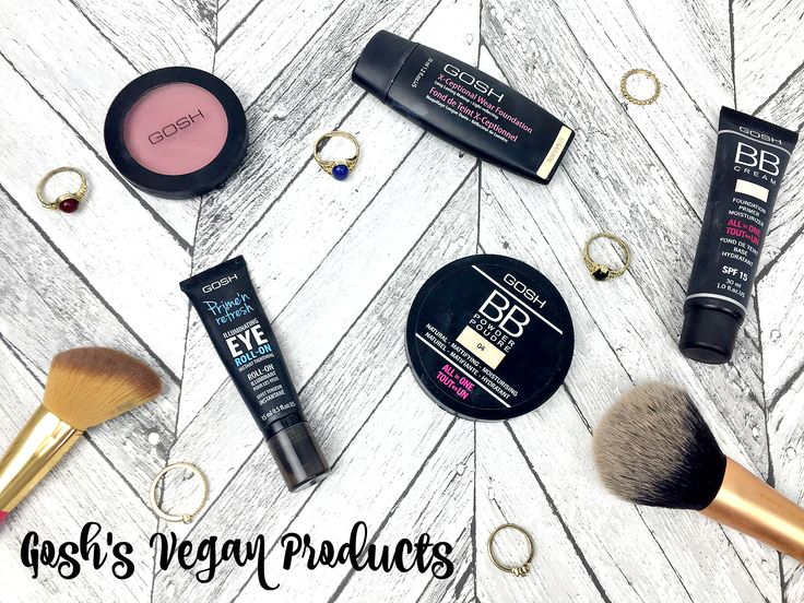 Gosh Cosmetics Vegan List 2016