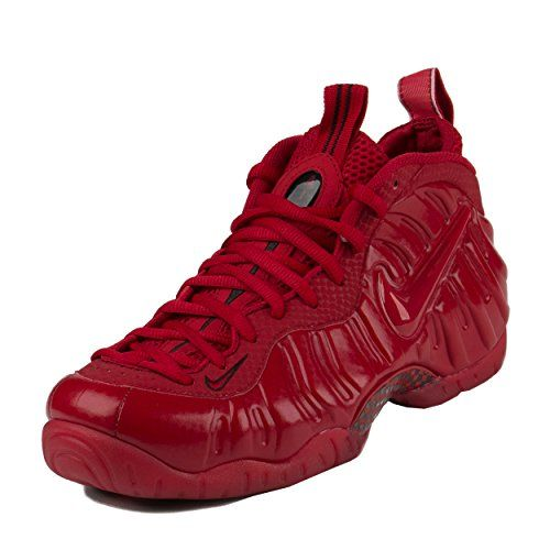 """Nike Mens Air Foamposite Pro """"Red October"""" Gym Red/Black Synthetic Basketball:   The Nike Air Foamposite Pro receives the popular all-red treatment inspired by the """"Red October""""? Air Yeezy 2. Coated in the eye-catching Gym Red from top to bottom, you also get some black accents to complete one of the most popular recent editions of the classic Nike hoops shoe."""
