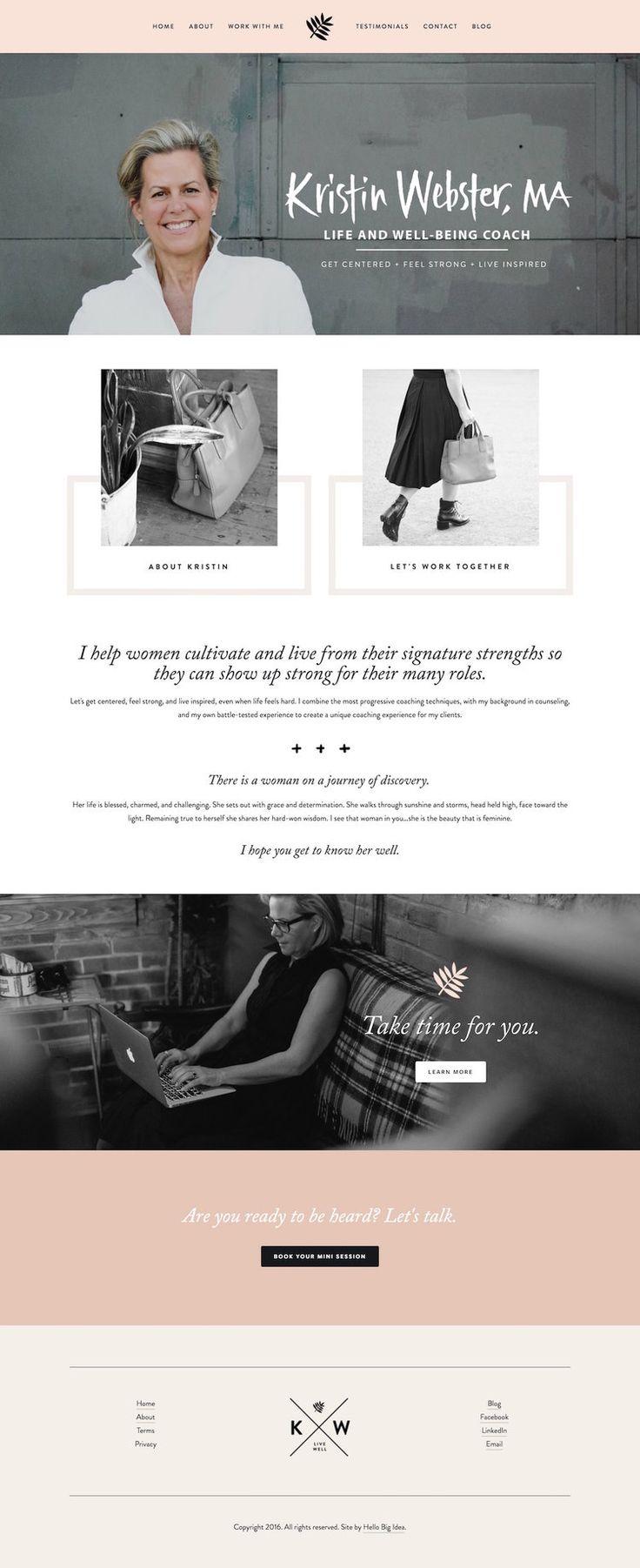 Kristin Webster Life Coach • A top 10 Squarespace feminine websites for inspiration.jpg
