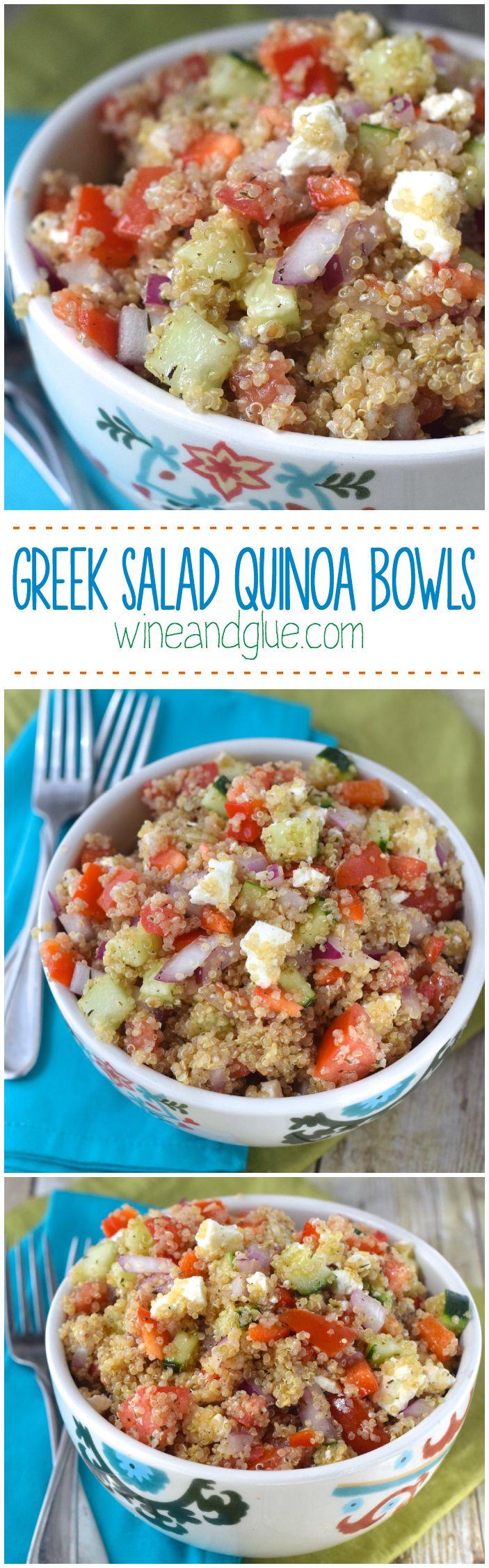 Greek Salad Quinoa Bowls |