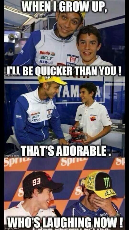 oh my god this is so funny XD Rossi will always be more of a legend