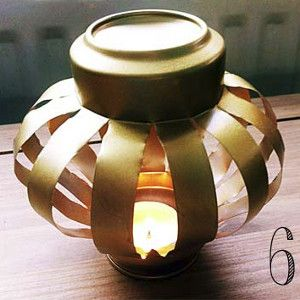 153 best recycled repurposed christmas crafts images on for Recycled paper lantern