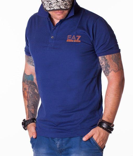 Armani Tricouri Polo - EA7 Classic tricou polo albastru