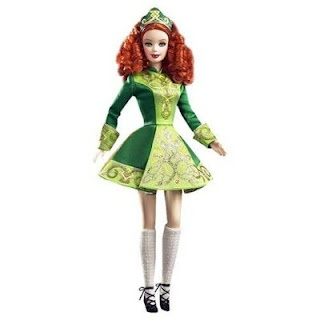 St patricks day barbie doll barbie dolls pinterest