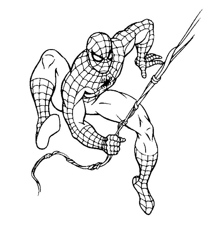 top 20 spiderman coloring pages printable httpfreecoloring pagesorg - Spiderman Coloring Pages Print