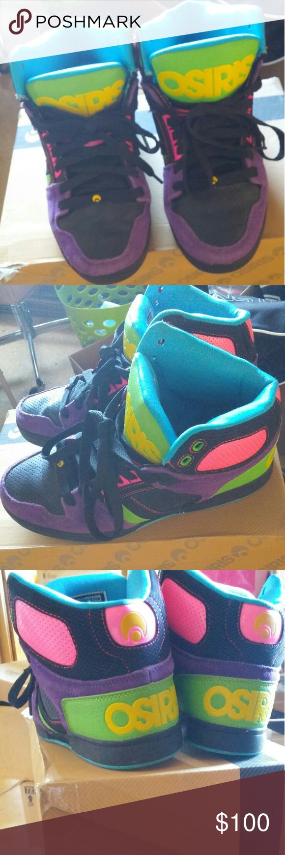 Limited Edition Osiris Brand new. Never worn. Comes with box And new shoe laces from journeys. Osiris Shoes Sneakers