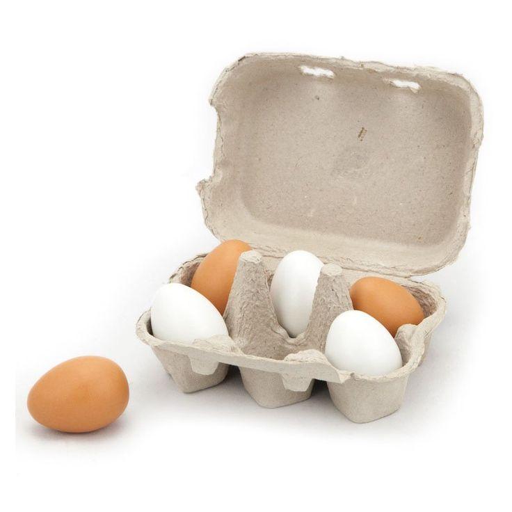 Set oua din lemn 6 buc.