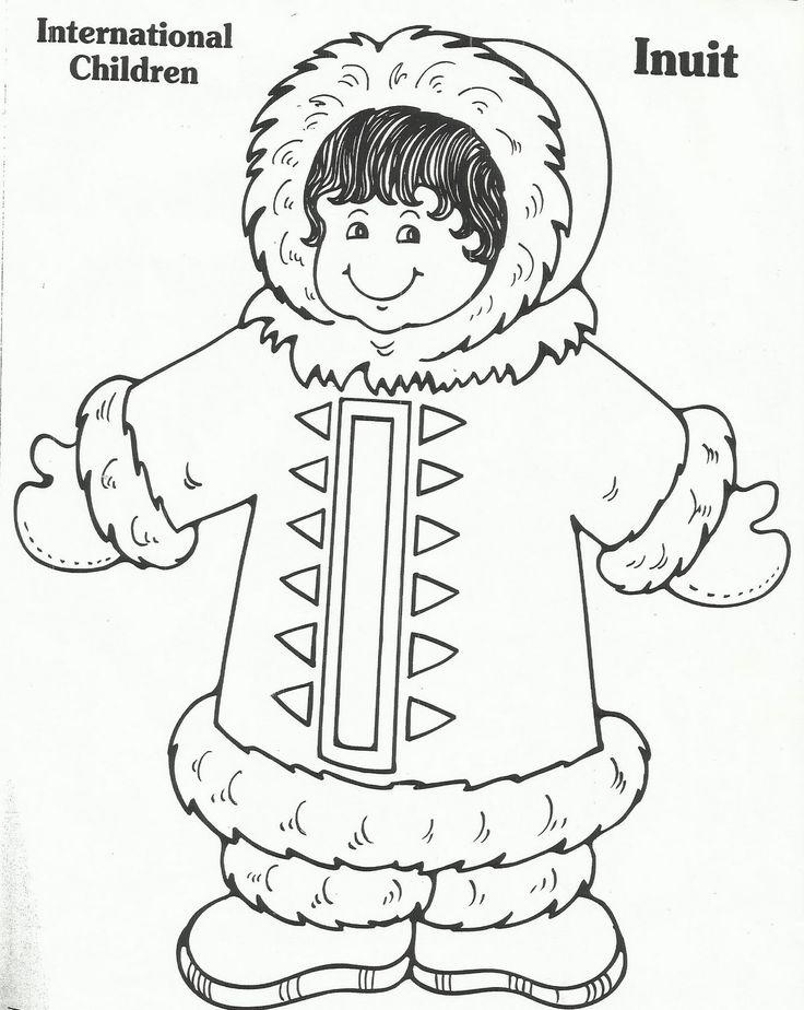 Eskimo poolgebieden kleurplaten pinterest for Eskimo coloring page