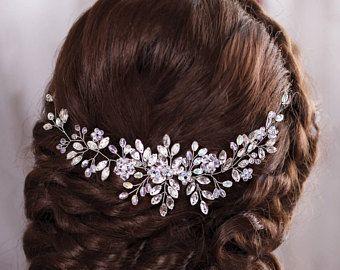 Pezzo di matrimonio capelli accessori da sposa capelli fascia di nozze di cristallo parrucchino strass copricapo nuziale capelli gioielli nuziali archetto Vine