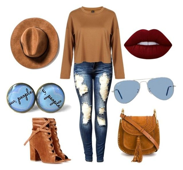"""""""#Spring"""" by diana-elena-2 ❤ liked on Polyvore featuring Chloé, Gianvito Rossi, Ray-Ban and Lime Crime"""
