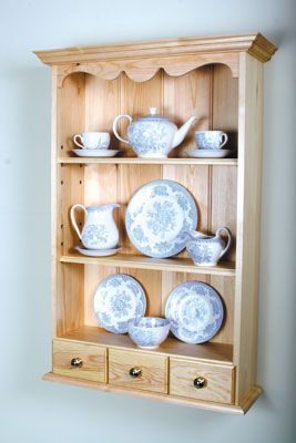 Saved Pine Shelves - Woodworking Crafts Magazine - woodworkersinstitute.com;
