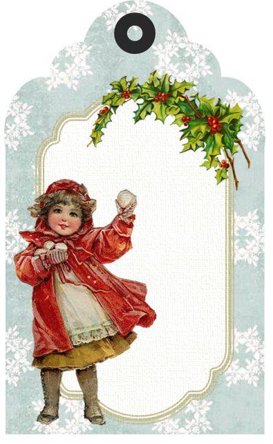 Vintage Christmas/Winter Tag