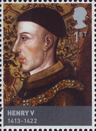 The Houses of Lancaster and York 1st Stamp (2008) Henry V (1413-22)