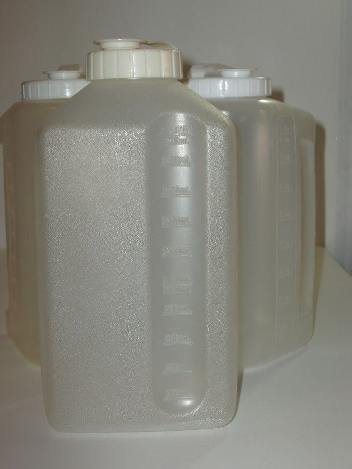 Tall Plastic Storage Containers With Lid Used Set Of 3 Containers #Unbranded