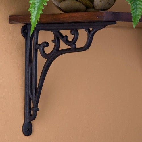 Comes in one size and two different color options. Whorl Cast Iron Shelf Bracket - Shelf Brackets - Hardware