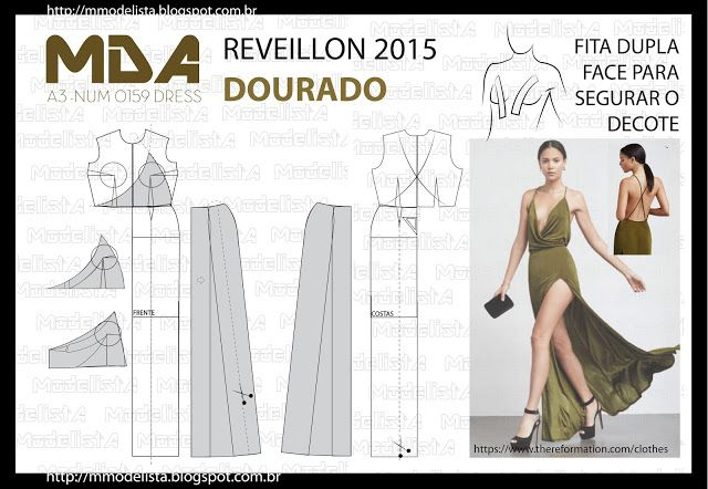 A3 NUMo 0159 DRESS - REVEILLON COR DOURADO