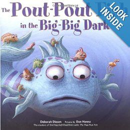 """""""The Pout-Pout Fish in the Big-Big Dark"""" to earn Promise Center.  I LOVE the Pout-Pout Fish.  In this story he promises to get Ms. Clam's pearl.  It is much deeper and darker than he thought, but """"friends help friends - That's a promise we keep""""."""