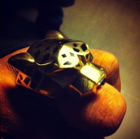 Jay-Z's Cartier Panther 18K Yellow Gold Ring  Litteraly have worn this EXACT SAME RING. borrowed it from one of my clients. It is pure sex