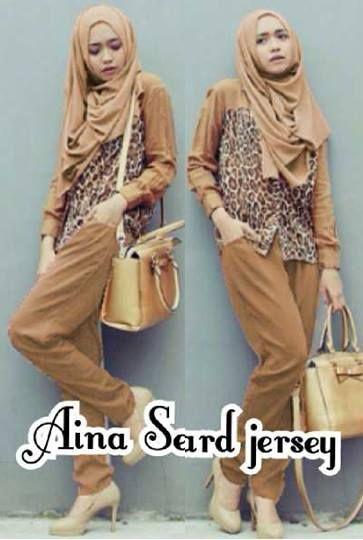 Aina Set Leopar ( Blouse Leopard + Celana Panjang + Pashmina) Bahan Spandek     Fit L     Harga : Rp. 131.500,-/set     Kode Produk / Product Code : C2525