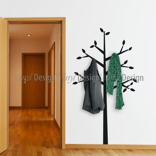 Tree Coat Hanger Wall Decal | Vinyl Design