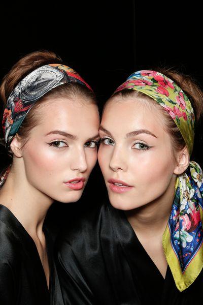 Hermes Head scarves.