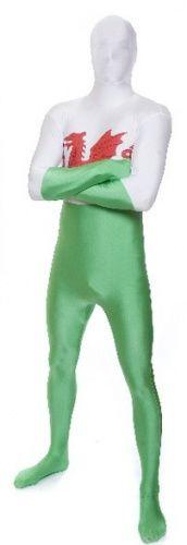 Costume Morphsuits™ Galles adulto: una tuta super aderente per trasformarsi in un tifoso super originale!