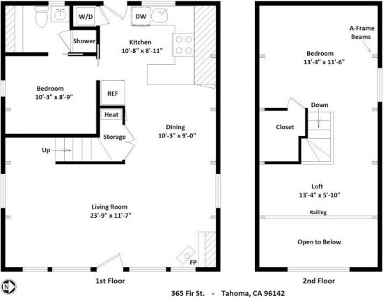 Plan parter si etaj casa in forma de A