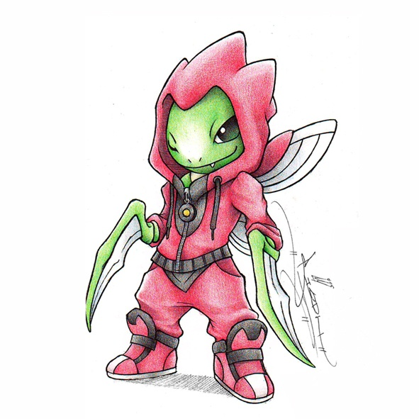 Scyther cosplay Scizor
