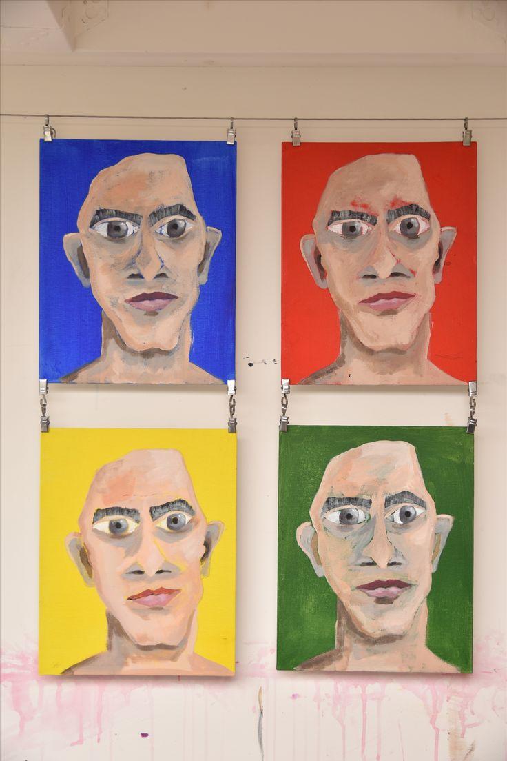 4 losse panelen, acryl (4 x A4)