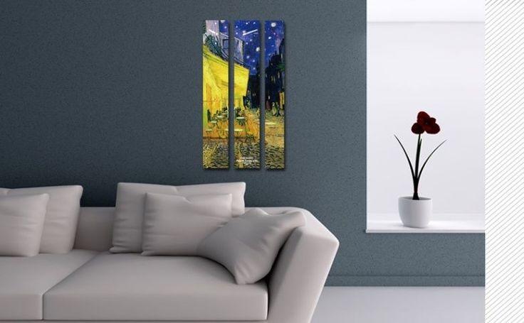 Interior Wall Clock Gogh Cafe Terrace, Modern Luxury 3pcs Framed Wall Art   #LEMONART #ArtDeco