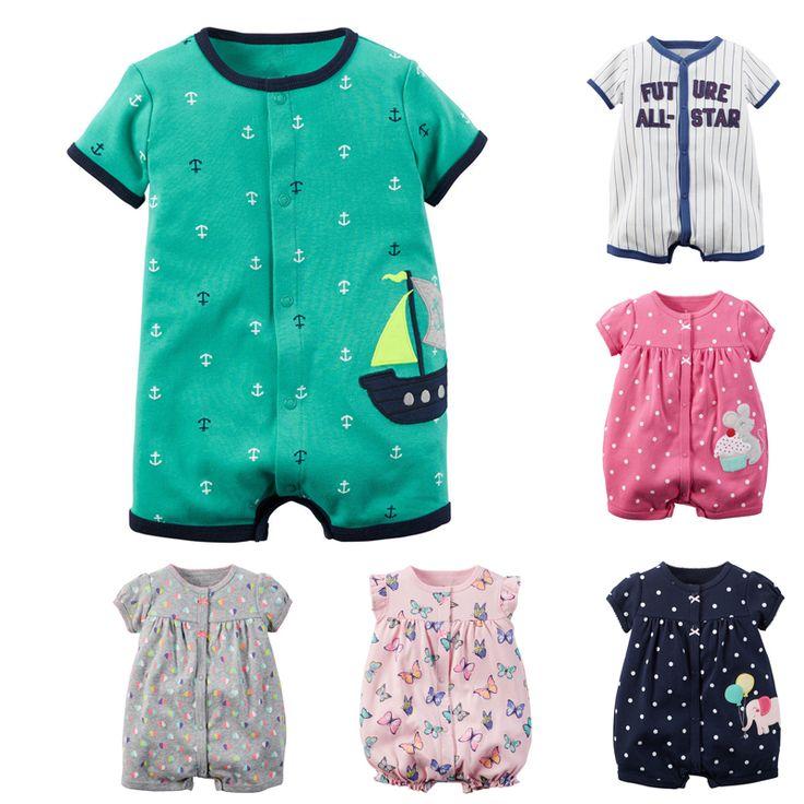 Barato Macacão de bebê Menino de Verão Do Bebê Roupas de Menina Conjuntos de…