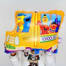 10 pc/lot 42 * 57 cm de la historieta sesame street globos del autobús escolar en forma de aire helio ballon birthday party decoration regalos de juguetes para el niño(China (Mainland))