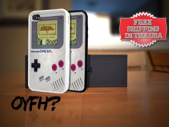 Nintendo Gameboy Zelda Game iPhone 4 4s Plastic Rubber Case