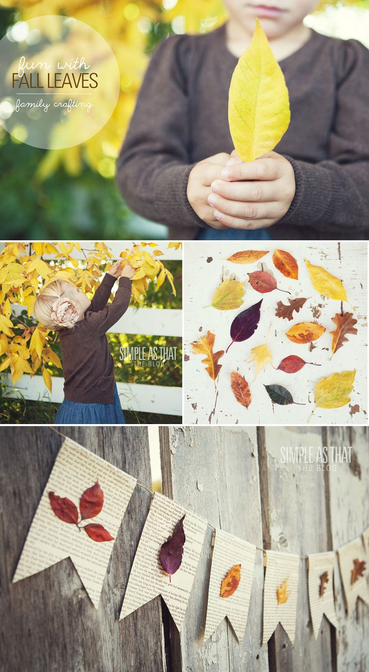 Fun with leaves   Simple Craft ideas for the whole Family!