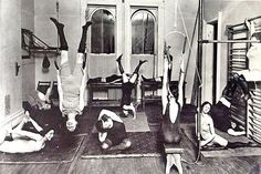 1910: Women's gym New York City (vintage yoga style photo) ...... #vintageyoga #yogahistory #1910s #yogaworld #om #namaste #yoga