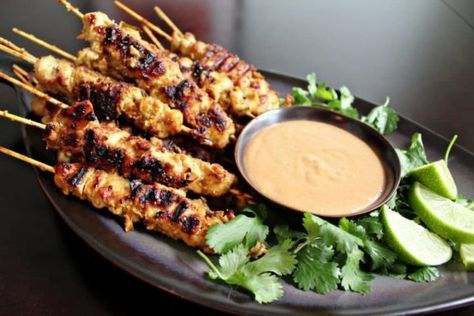 Try this tasty Thai Chicken Satay with Spicy Peanut Sauce. So simple and aromatic. Thai Chicken Satay with Spicy Peanut Sauce 2016-01-10 13:36:19 Share This Recipe Yum Serves 4 Thai chicken satay with spicy peanut sauce – Thai chicken sate is tasty and popular. Make this amazing chicken satay with this super easy and step-by-step recipe. Chicken skewers are... #humpdaymotivation #wednesdaywisdom