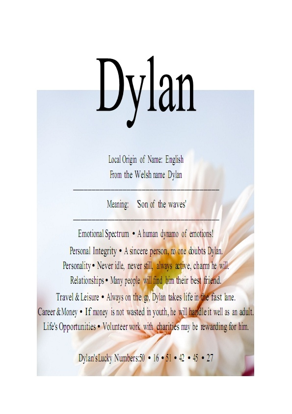 Image detail for -Name Means Everything.Dylan, Dillan, Dillon » Name Means Everything.