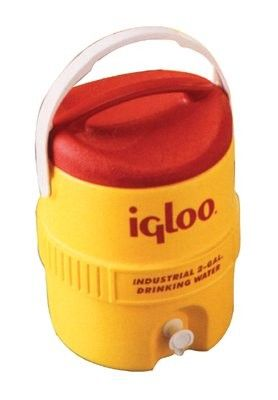 400 Series Coolers - 10 gal yellow/redplastic ind