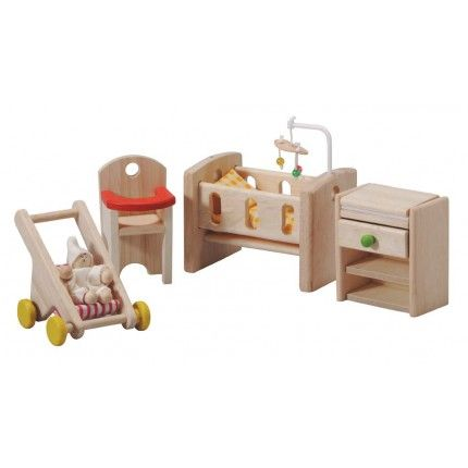 Welcome The New Addition To Your Childu0027s Family Of Dollhouse Dolls With  This Adorable New Nursery Set From Plan Toys. Designed To Fit Perfectly  Inside Any ...