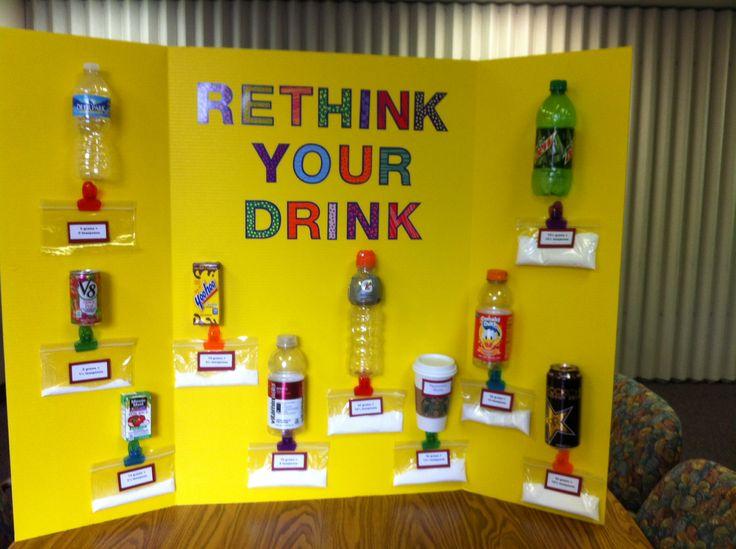 Health Fair - sugar content in drinks.